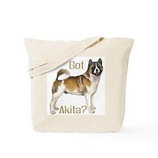 """I Love My Akita"" Tote Bag"