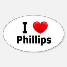 I Love Phillips Oval Decal