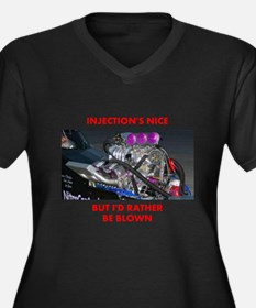 TOP FUEL BLOWN RACE CAR Women's Plus Size V-Neck D