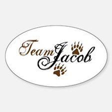Team Jacob Black Oval Decal