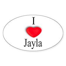 Jayla Oval Decal