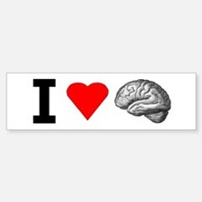 I Love Brain Bumper Bumper Bumper Sticker