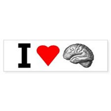 I Love Brain Bumper Car Sticker