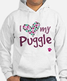 Funny Puggle puppy Hoodie