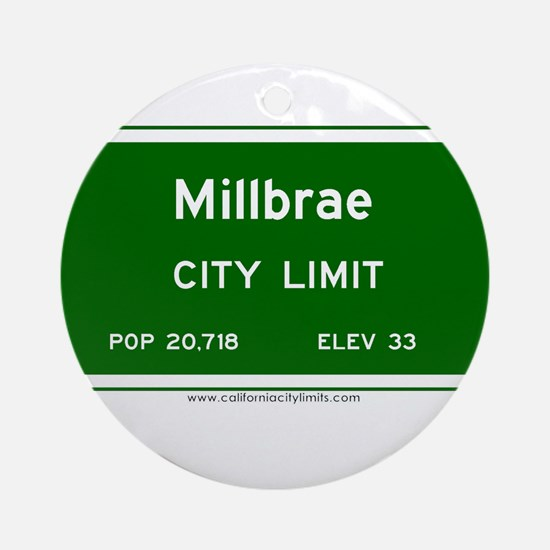 Millbrae Ornament (Round)