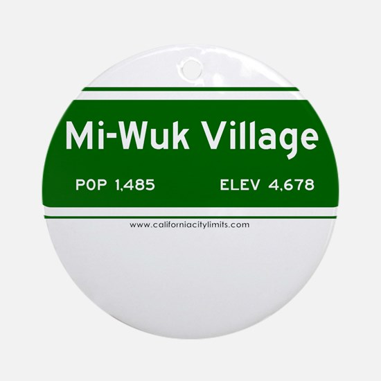 Mi-Wuk Village Ornament (Round)