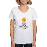 Phlebotomy Chick Women's V-Neck T-Shirt