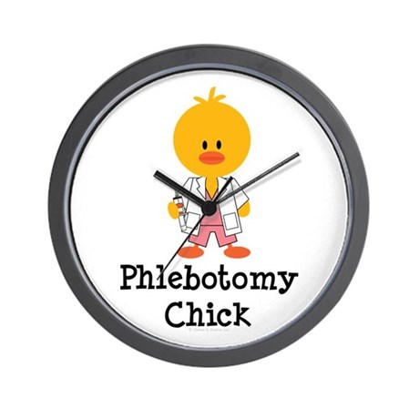Phlebotomy Chick Wall Clock