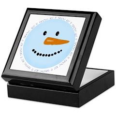 Blue Snowman Keepsake Box