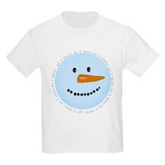 Blue Snowman Kids Light T-Shirt