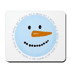 Blue Snowman Mousepad