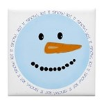 Blue Snowman Tile Coaster