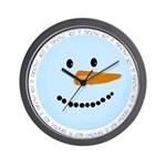 Blue Snowman Wall Clock