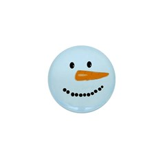 Blue Snowman Mini Button (100 pack)