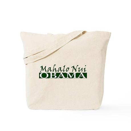 Mahalo Obama Tote Bag