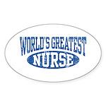 World's Greatest Nurse Oval Sticker