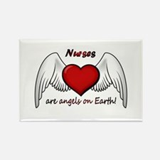 Angel Nurse Rectangle Magnet