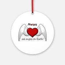 Angel Nurse Ornament (Round)