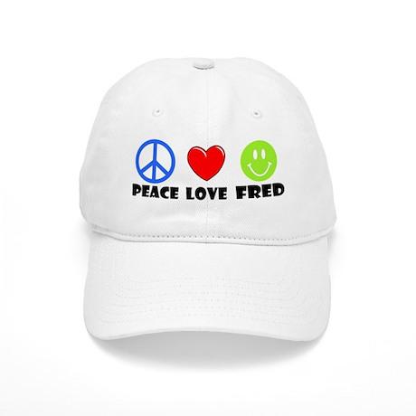 Peace Love Fred Cap
