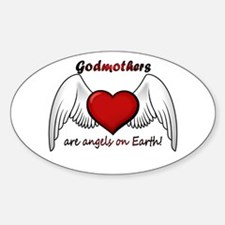 Angel Godmother Oval Decal