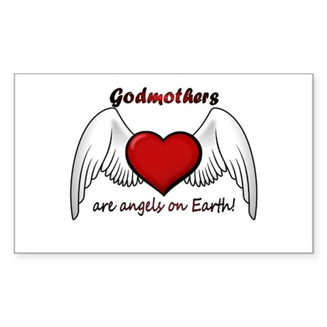 Angel Godmother Rectangle Sticker