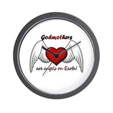 Angel Godmother Wall Clock