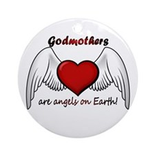 Angel Godmother Ornament (Round)