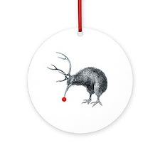 Santas Little Helper Kiwi Ornament (Round)