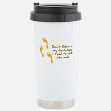 Footsteps Sarcastic Travel Mug
