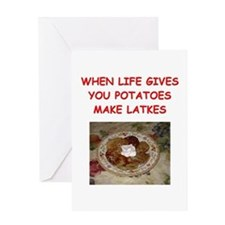 potato pancakes Greeting Card