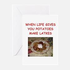 potato pancakes Greeting Cards (Pk of 10)