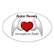 Angel Foster Oval Bumper Stickers
