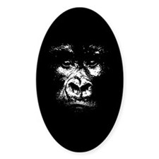 Gorilla Oval Decal