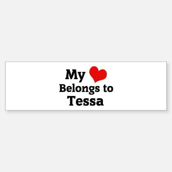 My Heart: Tessa Bumper Car Car Sticker