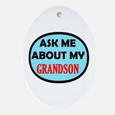 GRANDPARENTS PRIDE Oval Ornament