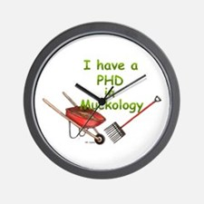 PHD Muckology Wall Clock