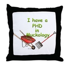 PHD Muckology Throw Pillow