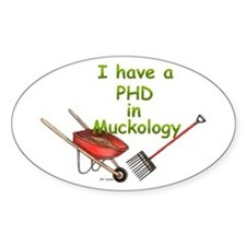 PHD Muckology Oval Decal