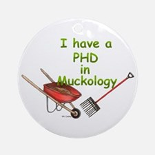 PHD Muckology Ornament (Round)