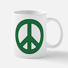 Green Peace Sign Mug