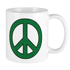 Green Peace Sign Coffee Mug