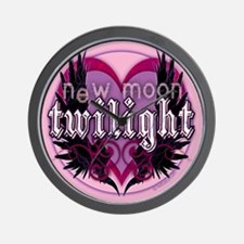 Twilight Winged Crest Wall Clock