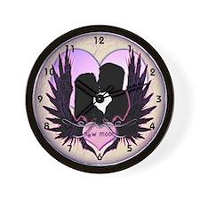 Twilight Midnight Kiss Wall Clock