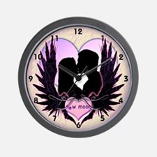 Twilight Midnight Kiss Wall Clock