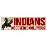 American indian political stickers Bumper Stickers