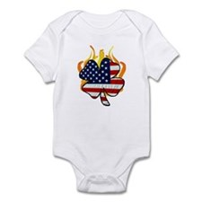 Irish Firefighter Shamrocks Infant Bodysuit