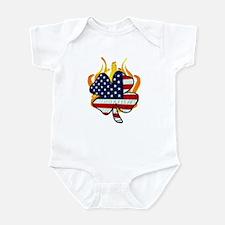 Irish Firefighter Shamrocks Infant Bodysuit
