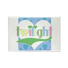 Twilight Hearts Rectangle Magnet