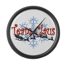Team Claus Large Wall Clock