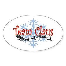 Team Claus Oval Sticker (50 pk)